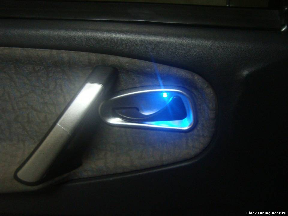 Подсветка на ручки автомобиля своими руками